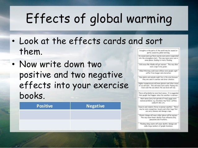 an essay on the effects of global warming will be beneficial Essay on global warming: causes, effects and other greenhouse gases is called greenhouse effect global warming happens when the excess heat from sun's.