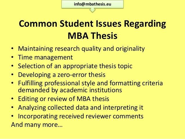 mba dissertation proposal topics list