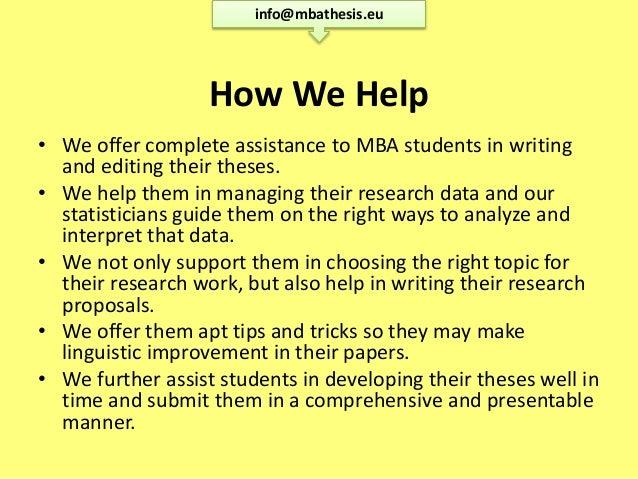 Professional dissertation writing mba