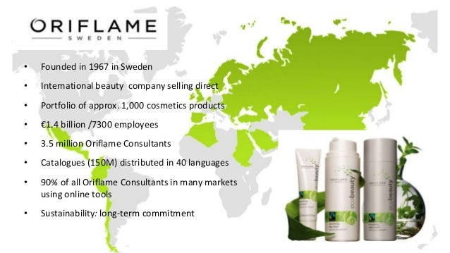 • Founded in 1967 in Sweden • International beauty company selling direct • Portfolio of approx. 1,000 cosmetics products ...
