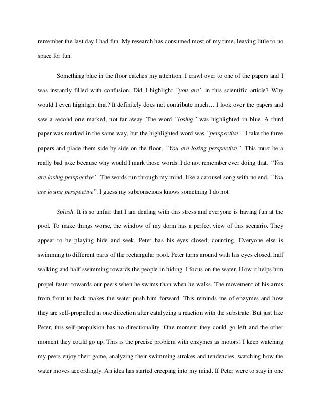 Short story essays for school