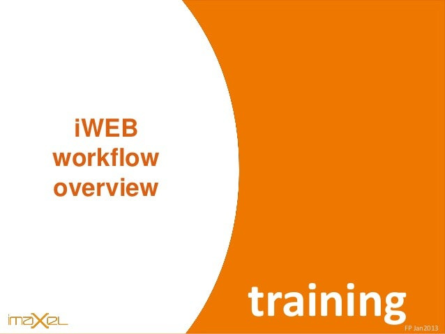 iWEB s iWEB workflow overview trainingFP Jan2013