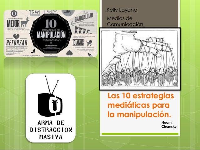 Estrategias de manipulación según Noam Chomsky