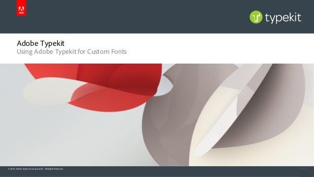 1. adobe typekit overview for custom fonts
