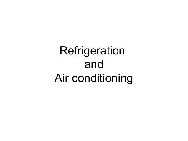 1.refrigeration