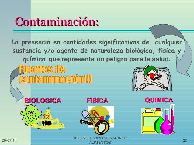 1 higiene de a y b fundametal - Fuentes de contaminacion de los alimentos ...