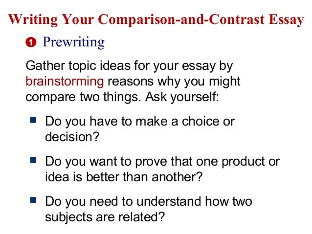 Write my comparison and contrast essay topic