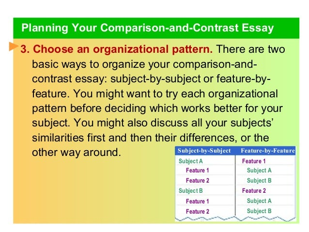 one way to organize a comparison and contrast essay is Using the following links, you can find a lot of good comparison topics for your essay: 100 compare and contrast essay topics 50 compare and contrast topics list of compare and contrast essay topics comparison essay structure considering the right structure for your essay is one of the key points of success.
