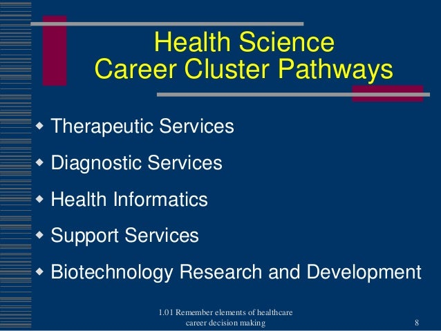 101 health science career cluster pathways