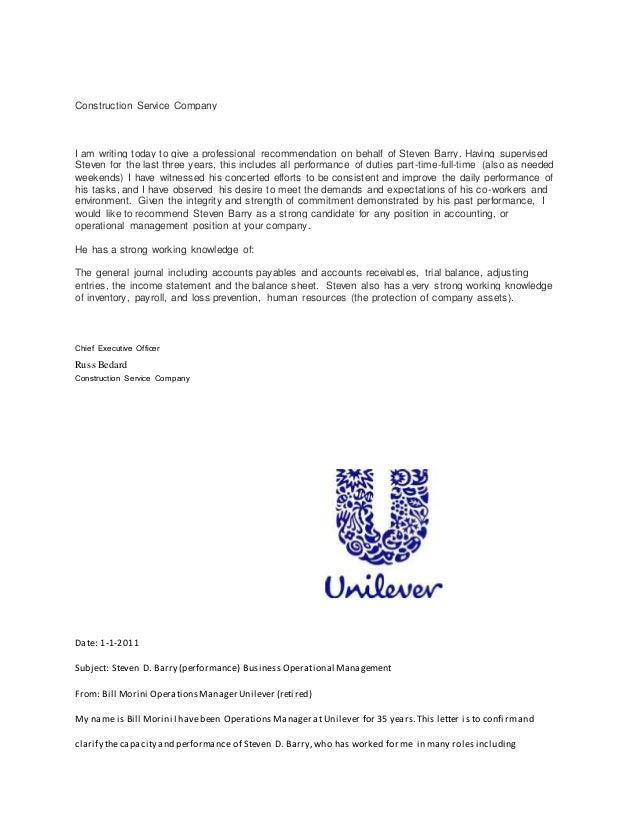 reference letter for resume