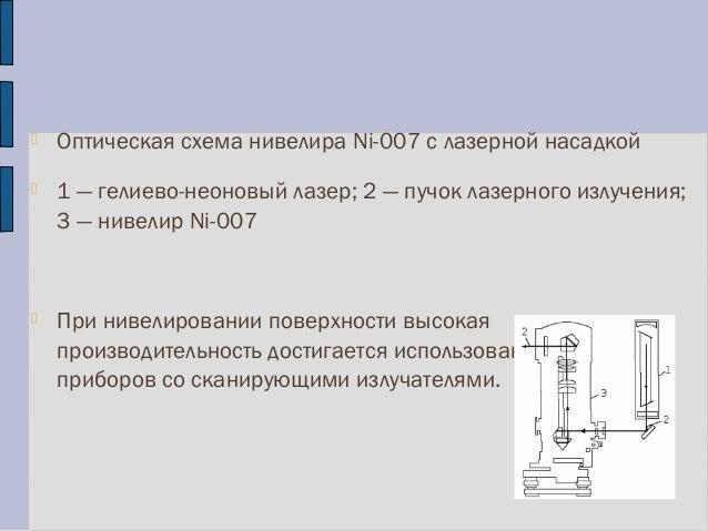 Оптическая схема нивелира