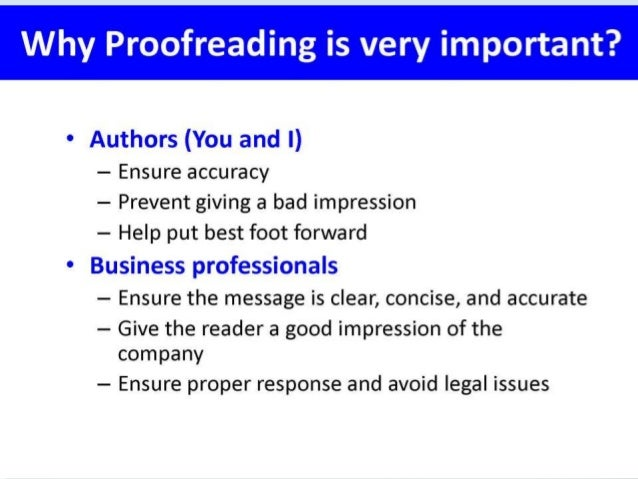 Proofreading dictionary
