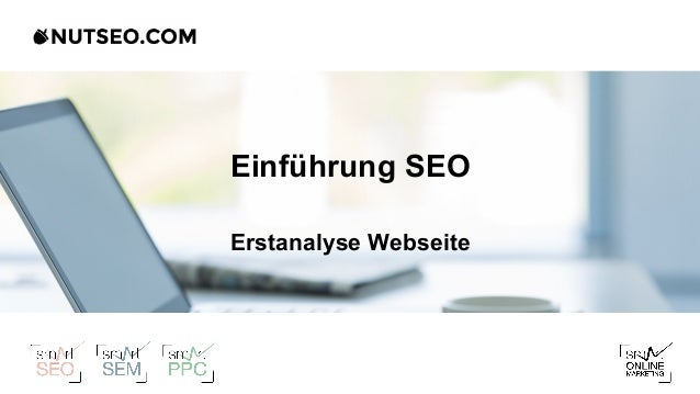 Einführung SEO Erstanalyse Webseite