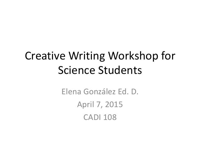 Creative writing in science