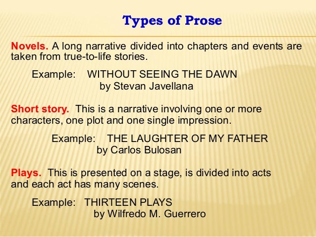 examples of prose writing When we write both prose and poetry, how do these different ways of writing  i  can give an example: when i was in cambodia i met a tuk tuk.