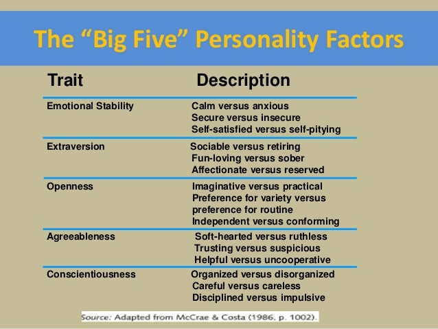 5 traits of human personality Personality types read about our framework  feeling connected to others by personality type black cats and broken mirrors: superstition by personality type.
