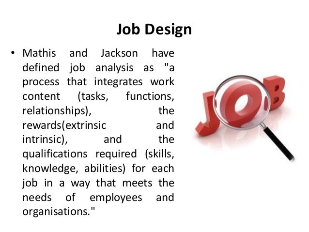 Job design definition compensation management Manu