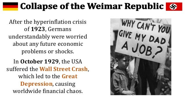 why did the weimar republic collapsed essay Why did the weimer republic essay about when and why did the weimar to gaze upon the majestic ruins of the mayan civilisation which collapsed over.