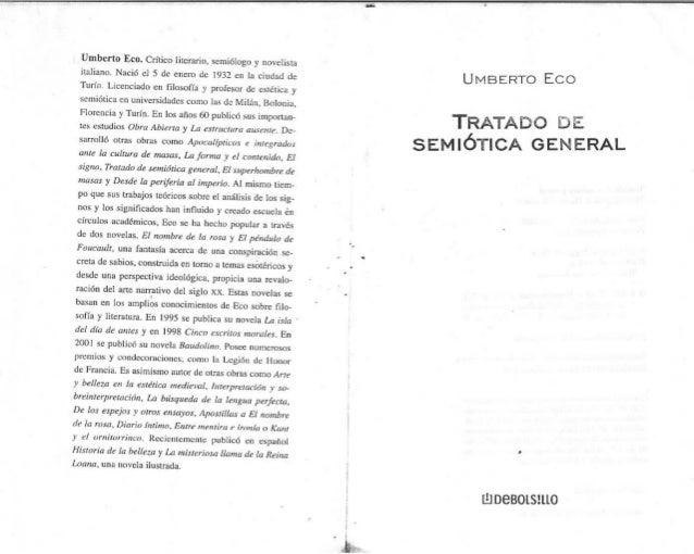 Umberto Eco: Tratado de Semiótica General