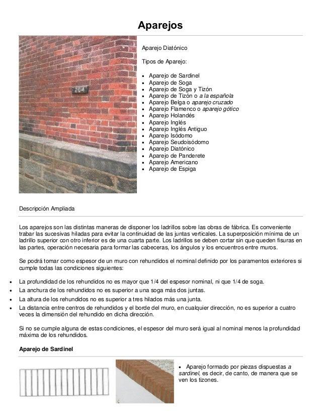 1 aparejos y muros Tipos de muros