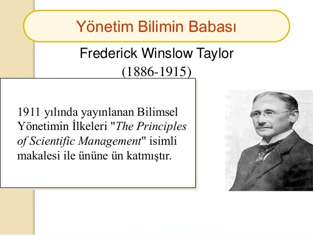 identify contribution to management thought by fayol frederick and taylor Chapter 2 the history of what did frederick taylor's contribution to management 4 management principles what did henri fayol contribute to management.
