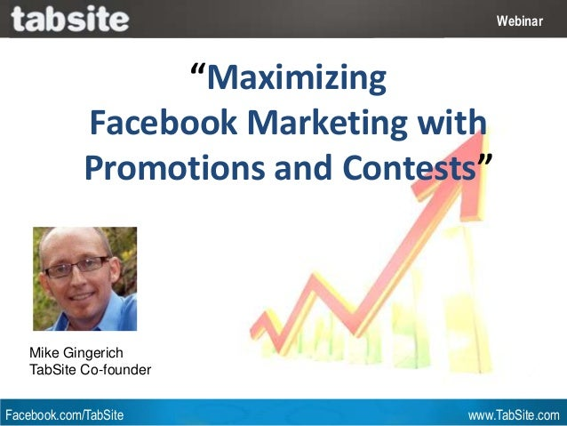 "Webinar: July 27, 2011                                            Webinar                   ""Maximizing             Facebo..."