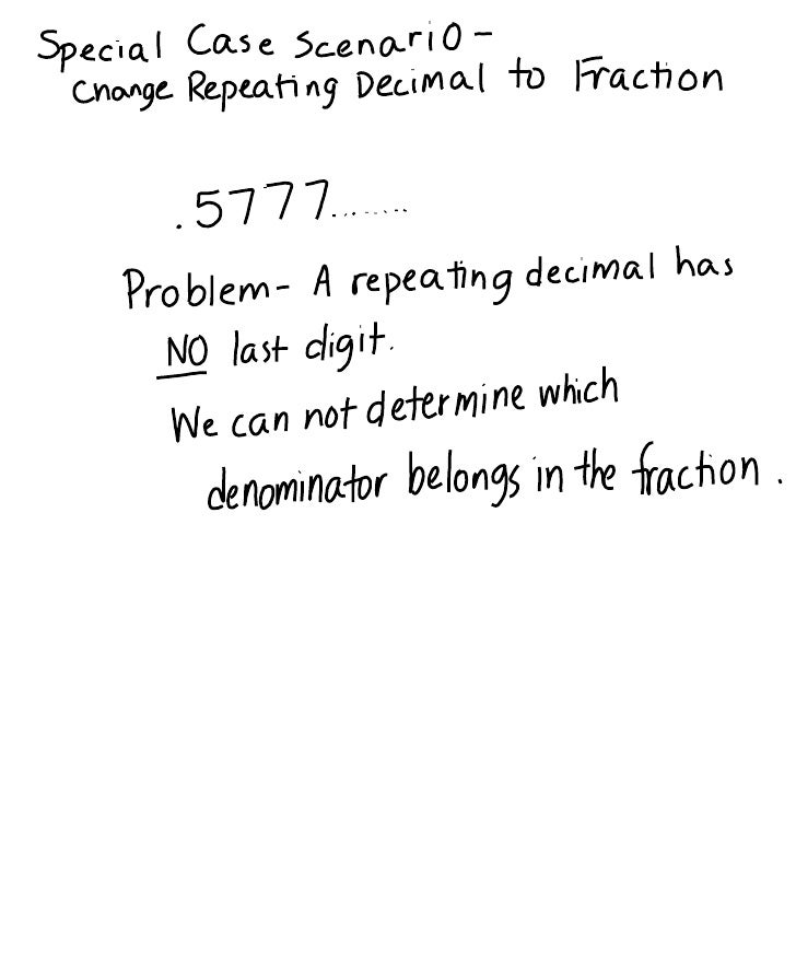 1 1 a change repeating decimal to fraction
