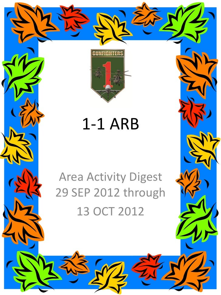 1-1 ARB Area Activity Digest29 SEP 2012 through    13 OCT 2012