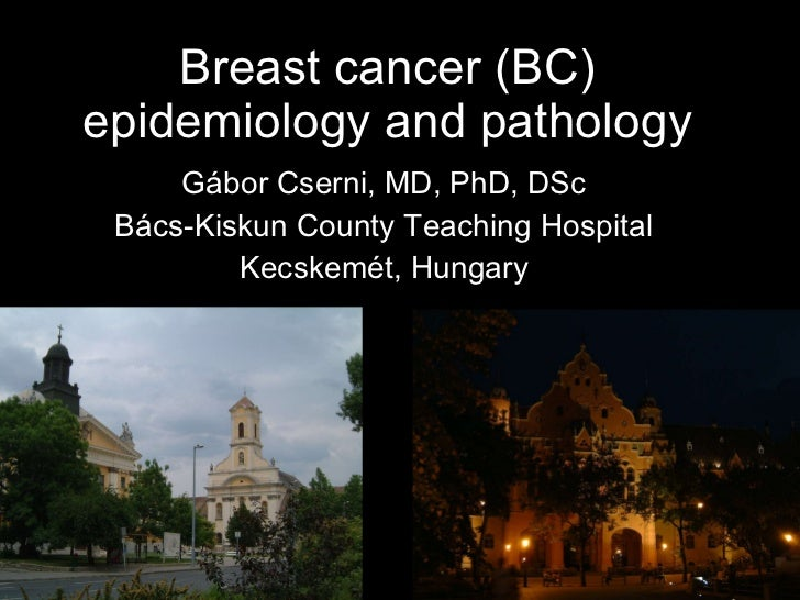 Breast cancer (BC) epidemiology and pathology Gábor Cserni, MD, PhD, DSc Bács-Kiskun County Teaching Hospital Kecskemét, H...