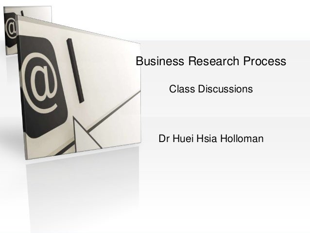 Business Research MethodsBusiness Research ProcessClass DiscussionsDr Huei Hsia Holloman