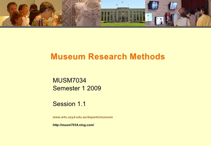 1.1 Museum Research Methods Introduction