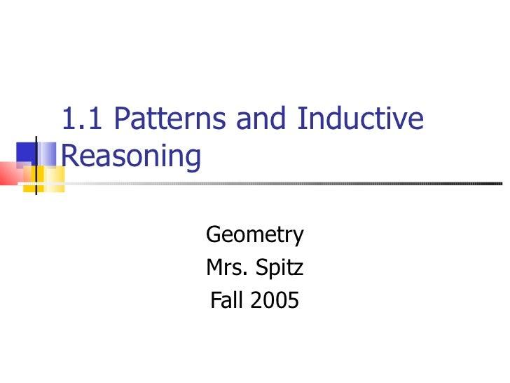 1.1 patterns & inductive reasoning