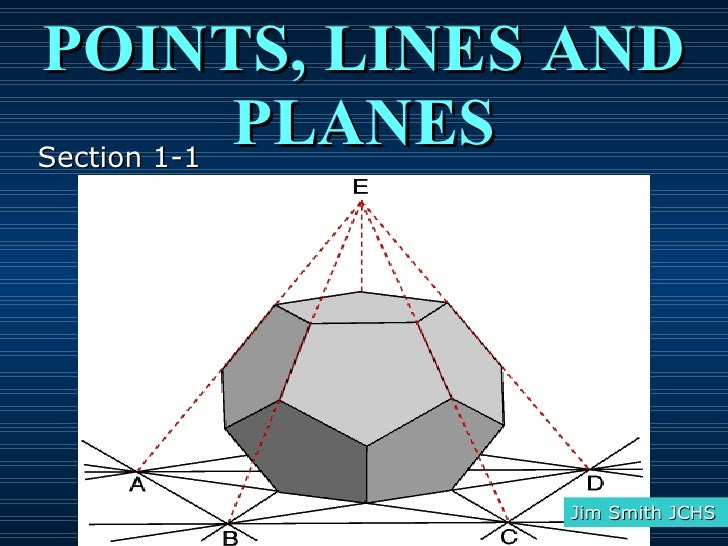 POINTS, LINES AND PLANES Jim Smith JCHS Section 1-1