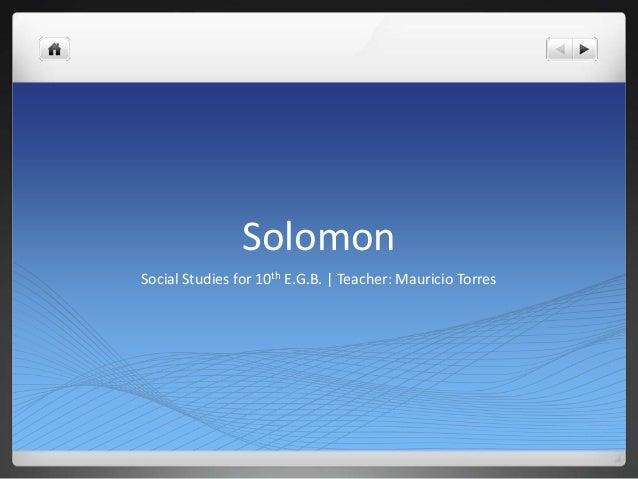 1 1 Solomon
