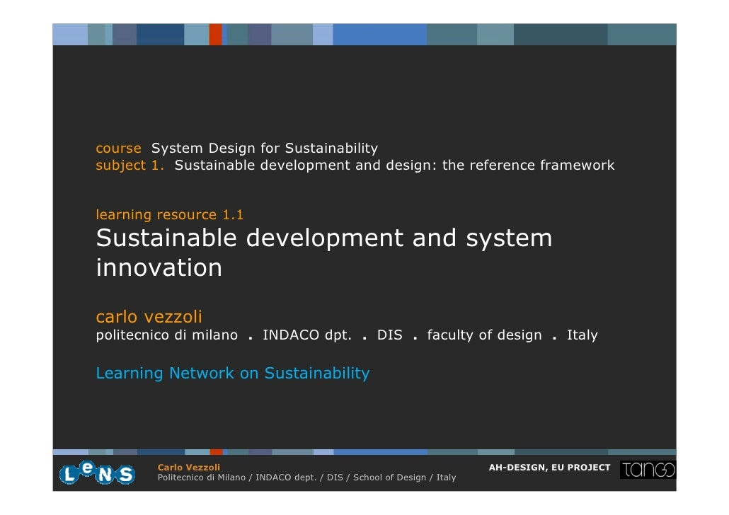 1.1 sustainable development and system innovation vezzoli 11-12 (28)