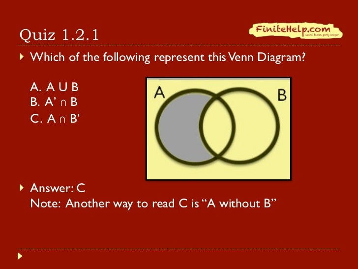 Venn Diagram Word Problems Quiz finite math venn diagrams and – Finite Math Worksheets