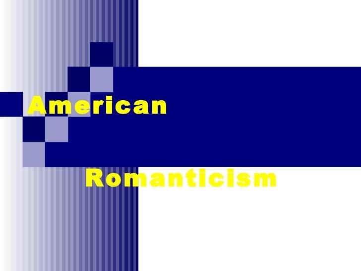 1 2-1 american romanticism background