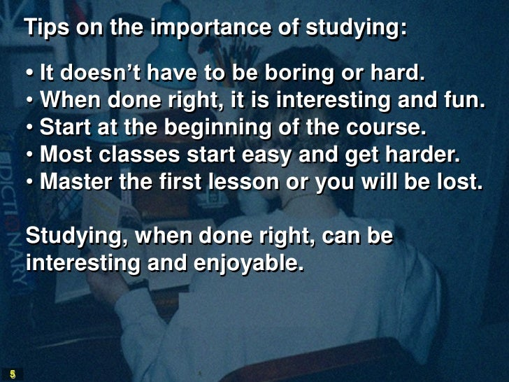 How could I fix my study habit?