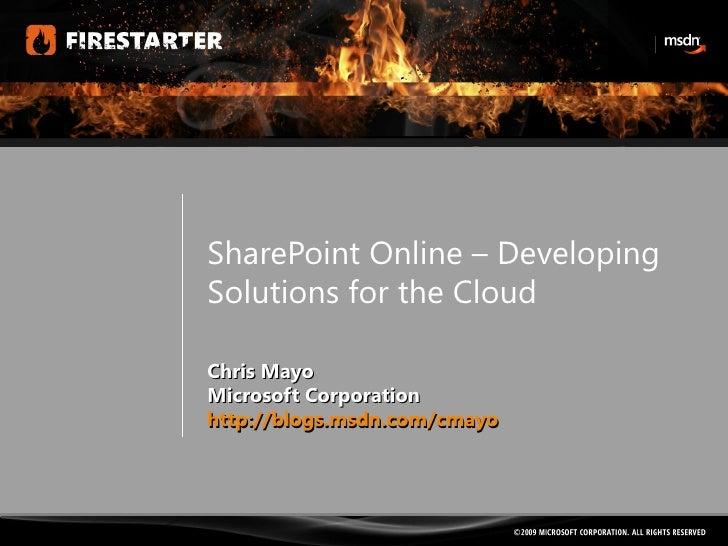 Session4-Sharepoint Online-chrismayo