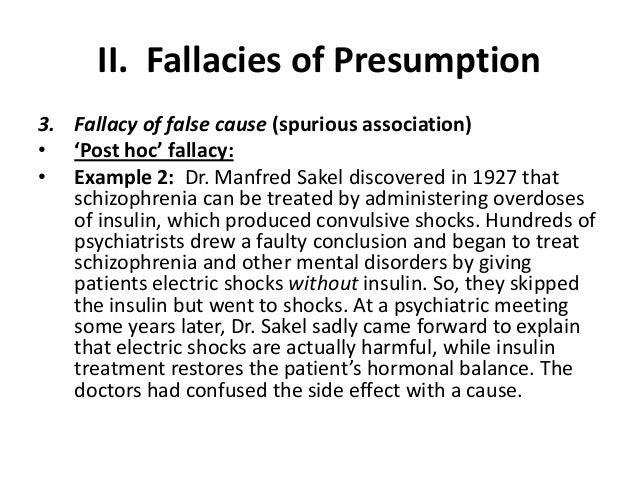 types of fallacy