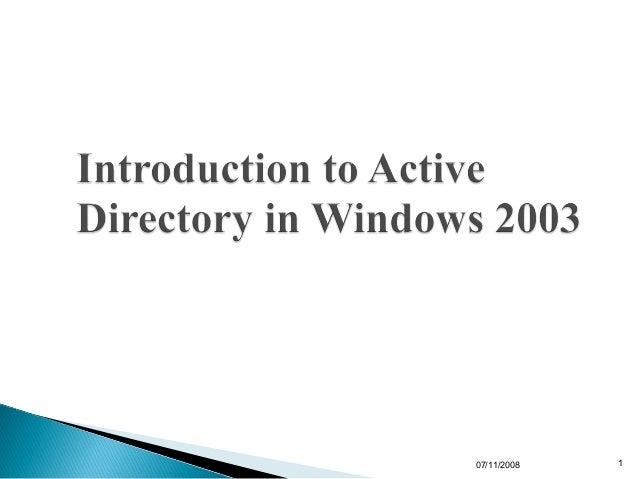 1.2 active directory