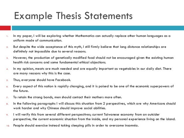 how long is a thesis statement A statement of the goal of the paper: why the study was undertaken, or why the   however, interpretation/discussion section(s) are often too long and verbose.