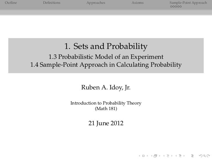 Probability Theory: Probabilistic Model of an Experiment & Sample-point Approach