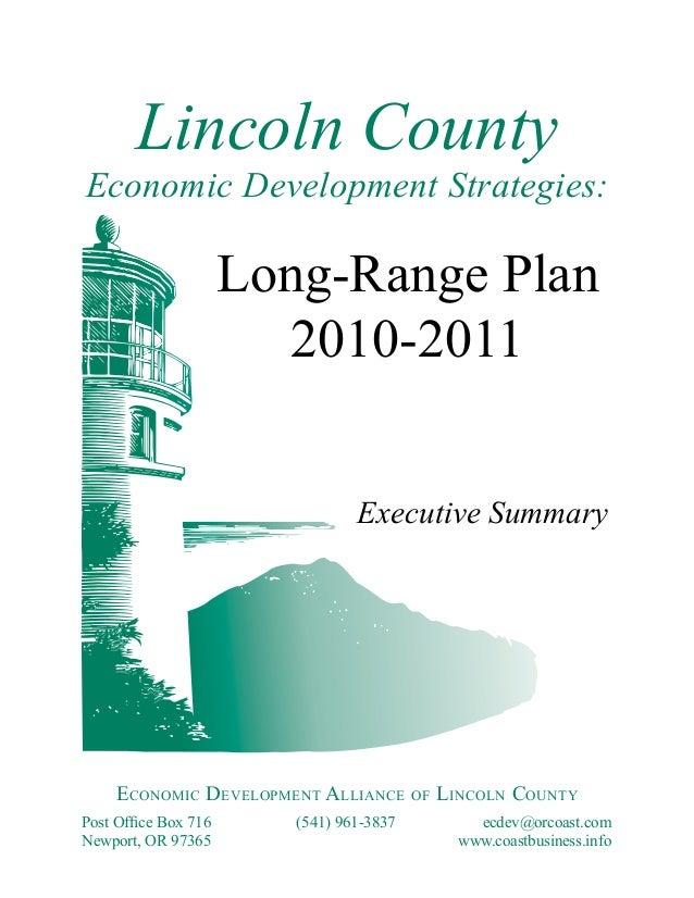 Lincoln CountyEconomic Development Strategies:                      Long-Range Plan                         2010-2011     ...