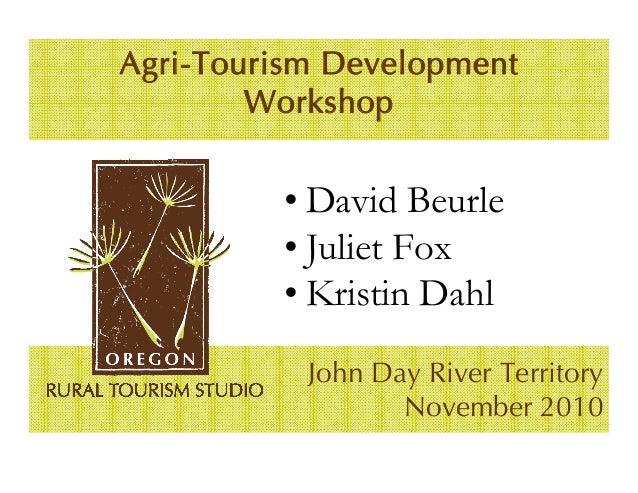 JDRT Agritourism