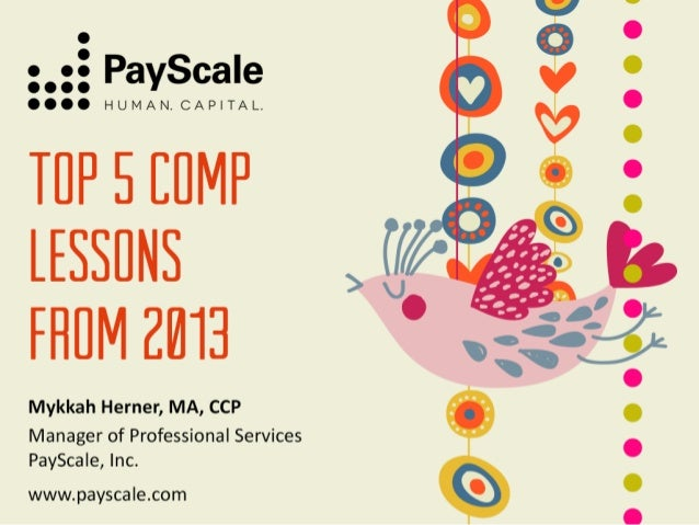 14,000 Positions  3000 Customers  11 Countries  40 Million Salary Profiles 250 Compensable Factors  www.payscale.com