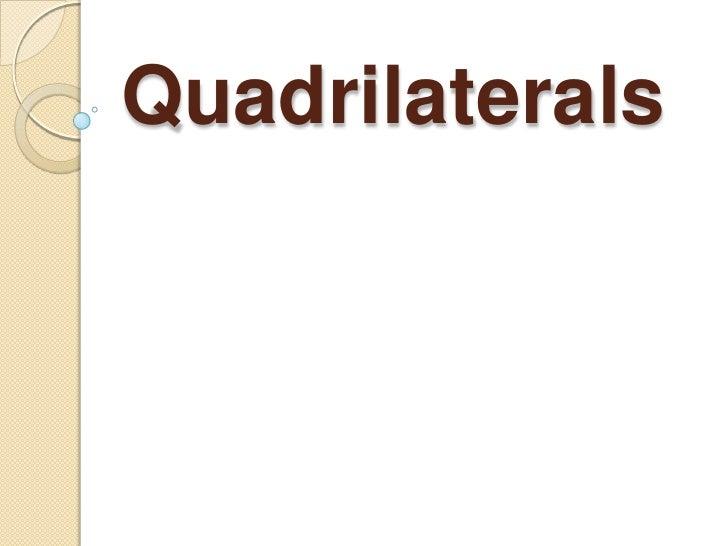 Quadrilaterals<br />