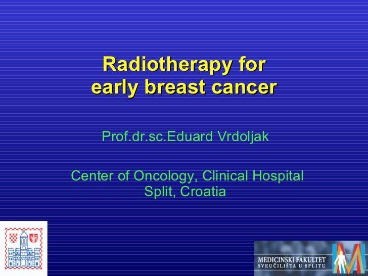 BALKAN MCO 2011 - E. Vrdoljak - Radiotherapy