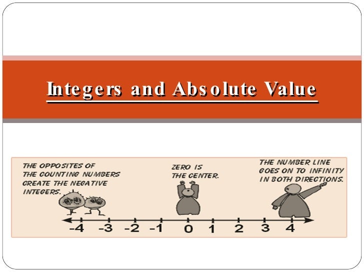 Objectives: Graph and compare integers Find the absolute value of a number Integers and Absolute Value