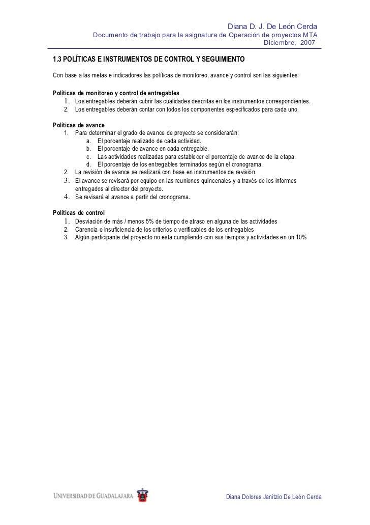 1.3 políticas e instrumentos de control
